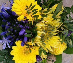 Hultabukett blå gul